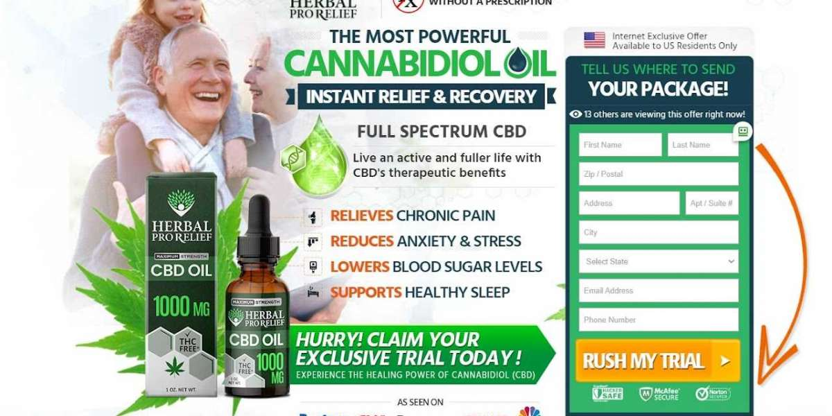 Herbal Pro Relief CBD (Trial) – Relieves Stress, Pain & Discomfort Easily!