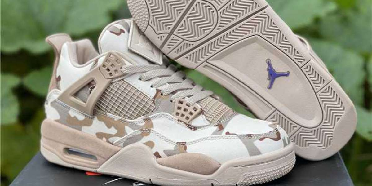 The Aleali May Air Jordan 4 Camo has come out